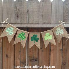 St+Patrick's+Day+Burlap+Bunting+//+Seasonal+by+LisaTCreations,+$20.00