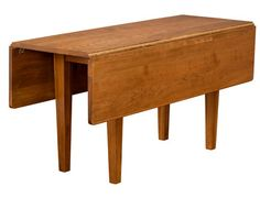 The Studio Drop Leaf Leg Table is perfect for someone with not a lot of space.