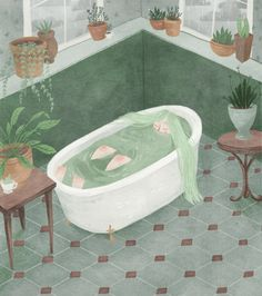 Bathtime by Taryn Knight on Etsy
