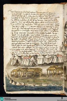 Titel  Beschreibung der Reise von Konstanz nach Jerusalem - St. Peter pap. 32  VerfasserGrünenberg, KonradErschienenBodenseegebiet,[ca. 1487]