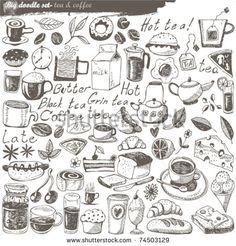 big vector set : kitchen - food