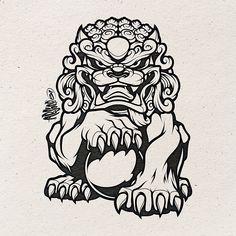 Tattoo Dragon Arm Foo Dog 31 New Ideas Drawings Asian Tattoos, Dog Tattoos, Body Art Tattoos, Chinese Tattoos, Kunst Tattoos, Tattoo Drawings, Art Drawings, Dragon Drawings, Japanese Tattoo Art