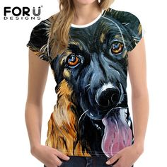 FORUDESIGNS Fashion Female T Shirt Women Cool Brand Clothes Female Casual Tops Tees Blusa 3D Pitbull Cat T-shirt Girls Tops Pug #Big And Tall Halloween Costumes