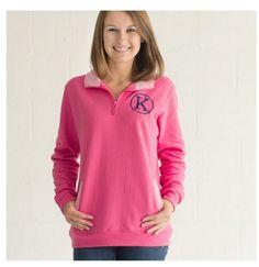 Pink/White Pinstripe Pullover | underthecarolinamoon.com