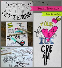 This tutorial is an introduction to hand lettering for beginners.Click here to download a printable Beginner's Guide!