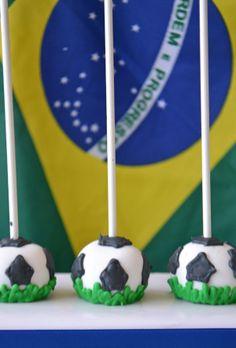 Soccer Ball Cake Pops For Sale