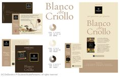 Amedei Tuscany/Blanco de Criollo - illustrations & graphics for invitation, flyer and pop materials