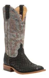 Anderson Bean Men's Black Loch Ness w/ Midnight Monet Double Welt Square Toe Western Boot | Cavender's