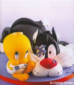 Looney Tunes Cake. Learn how to create your own amazing cakes: www.mycakedecorating.co.za