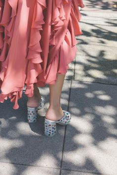 Loeffler Randall - Laurel in Silver Loeffler Randall, Hippie Style, Playing Dress Up, Designer Shoes, Ruffles, Fashion Shoes, Pink, How To Wear, Play Dress