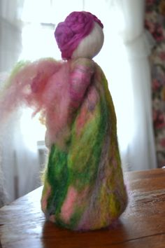 Needle felted Spring Fairy Waldorf Inspired. $35.00, via Etsy.