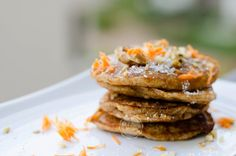 Pancakes with Carrot and Coconut ~ Mangiare squisito ~ Foodblog I Foods, Carrots, Pancakes, French Toast, Coconut, Cookies, Breakfast, Fit, Crack Crackers