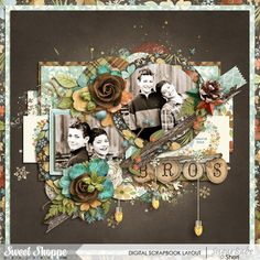 Digital scrap page by SeattleSheri using Trifecta 12 by Brook Magee and Woodland Winter: COLLECTION by Studio Flergs