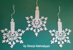 Crochet Christmas Ornaments, Christmas Crochet Patterns, Crochet Snowflakes, Christmas Crafts For Gifts, Diy Crafts Crochet, Crochet Gifts, Religious Gifts, Etsy, Projects
