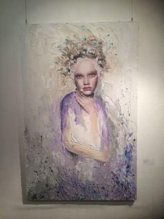 인사동 전시했던 Young and beautiful_mixed media on canvas