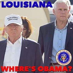 While Mt. Trump and Mr. Pence went to Louisiana to offer the flood victims hope…