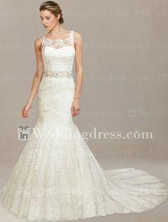 Vintage Lace Wedding Dress by serenaclinton