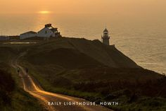 Sunrise at Baily Lighthouse Landscape Photos, Landscape Photography, Irish Greetings, Dublin, Lighthouse, Monument Valley, Sunrise, Greeting Cards, Travel