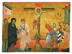 Guido da Siena - Tavola di Badia Ardenga: Crocifissione (ca. 1275-1280) Siena, Pinacoteca nazionale