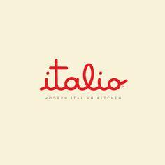 Italio / Restaurant / by Ron Boucher, creative director at Orlando-based Push / design / logo / identity / branding / red and yellow Collateral Design, Identity Design, Food Logo Design, Design Logos, Brand Design, Typography Inspiration, Graphic Design Inspiration, Italian Logo, Classic Italian