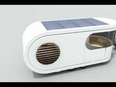 So cool caravan with terrasse and solar panels !