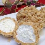 Caramel marshmallow rice crispy ball treats