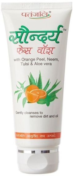 patanjali saundaraya ORANGE PEEL,NEEM,TULSI face wash 60ml/150ml fresh pack #Fresh