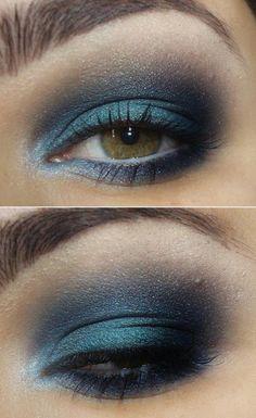 Ahumado azul para ojos verdes