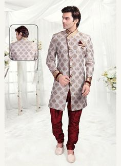Indostyle Ethnic Indian Readymade Wedding Mens Designer Sherwani Bollywood Dress #TanishiFashion