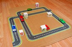 Road free printable. Maybe decoupage this on trailer dinette table for boys to play cars on