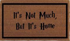 Harry Potter Quote Door Mat