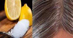 Mieszanina oleju kokosowego i sok z cytryny - siwe włosy ponownie uzyskają naturalny kolor!
