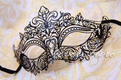 Gentle & Romantic Laser Cut Masquerade Ball Mask by 4everstore