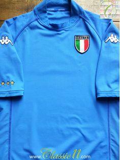 8d63cdeb5 Vintage Kappa Italy replica home football shirt from the 2002 2003  international season. Condition
