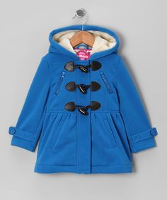 Electric Blue Fleece Toggle Coat - Toddler & Girls by Dollhouse on #zulily