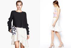 Bílé sukně jsou sice ošemetné na údržbu, ale v létě s nimi jednoduše vykouzlíte skvělé outfity do práce i na party. Na foto (zleva): H&M 899 Kč,…