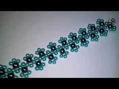 Bead bracelet 4 and 6 mm. Jewelry Making Tutorials, Beading Tutorials, Bracelet Crafts, Jewelry Crafts, Beaded Bracelet Patterns, Beaded Bracelets, Mothers Bracelet, Embroidery Jewelry, Beaded Brooch