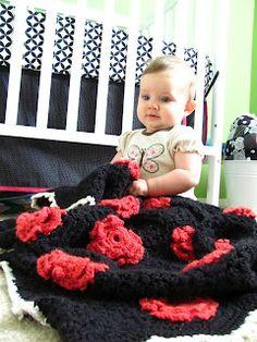 Persia Lou: Flower Hexi Baby Afghan Pattern