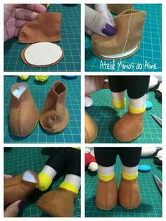Best 12 Dolls shoes pattern pdf by LiliaArtShop / Cloth & shoes doll tutorials for making Interior dolls shoes Felt Diy, Felt Crafts, Moldes Para Baby Shower, Doll Shoe Patterns, Sewing Dolls, Doll Tutorial, Waldorf Dolls, Doll Shoes, Felt Dolls