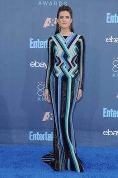 Allison Williams in Balmain at the Critics Choice Awards.
