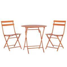 Home Decorators Collection Follie Burnt Orange 3-Piece All-Weather Patio Bistro Set-1356810570 - The Home Depot