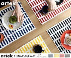 コースター・ランチョンマット artek SIENA プレースマット Artec, Dream Rooms, Placemat, Siena, Tableware, Interior, Furniture, Design, Dinnerware