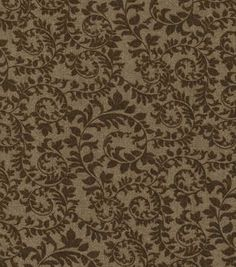 Keepsake Calico™ Cotton Fabric-Swirling Vines Brown