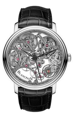 www.watchtime.com | watch to watch  | Blancpain Villeret Squelette 8 Jours | Blancpain Villeret 6633 front 560