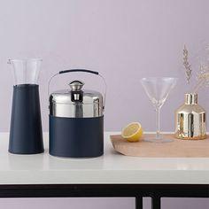 Carafe - Glass, Navy Leather - by von Herzen #MONOQI