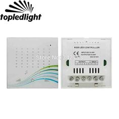 Touch Panel Music Led RGB Controler DC12-24V Common Anode TM14 D For 5050 RGB Led Strip Light Portable Lighting Accessories