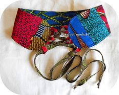 African Patchwork Corset Belt One of a Kind art by BarefootModiste