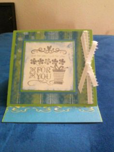 free standing card