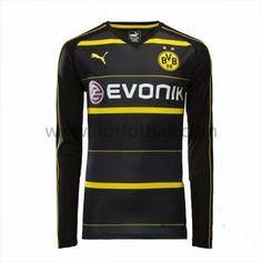 Billige Fotballdrakter BVB Borussia Dortmund 2016-17 Borte Draktsett Langermet