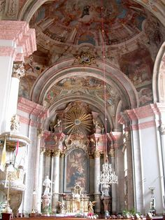 Conventual Franciscan Church Interior Eger Hungary